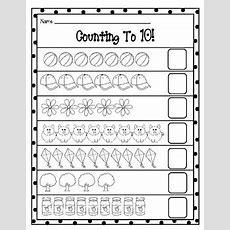 Counting To 10 Worksheets By Brandi Fletcher  Teachers Pay Teachers