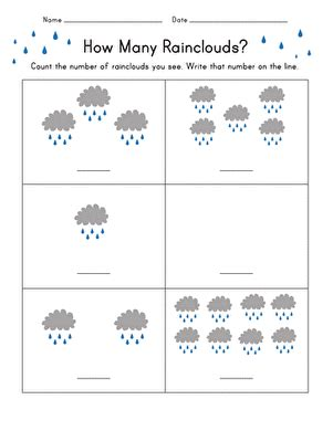rain count worksheet educationcom