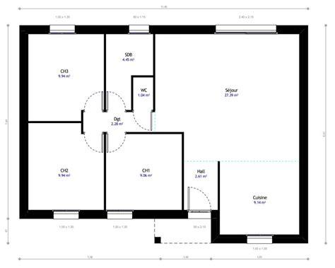 logiciel plan cuisine plan maison plain pied 3 chambres maison moderne