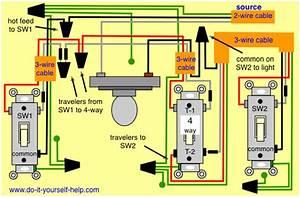 Diagram 4 Way Wiring  Light Center