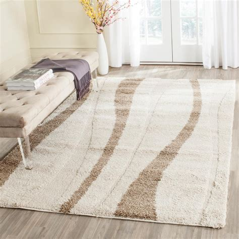 Brown Shag Area Rug by Safavieh Florida Shag Brown 4 Ft X 6 Ft Area