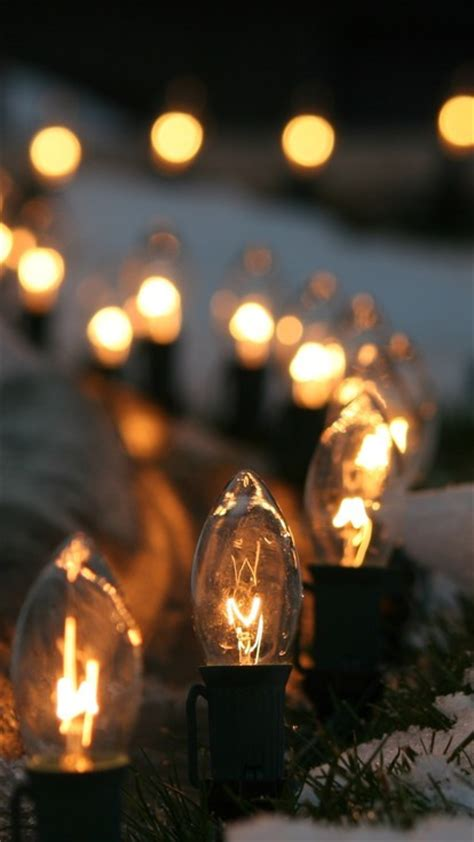 light bulbs lights macro snow winter wallpaper