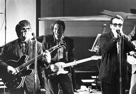 roy orbison bruce elvis costello at quot roy orbison and friends a black and white quot 1988