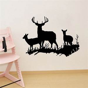 deer buck doe wall stickers deer family vinyl wall sticker With awesome deer decals for walls