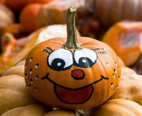 Kürbis Gesichter Malen by Decorating Pumpkins Without Carving Them Thriftyfun