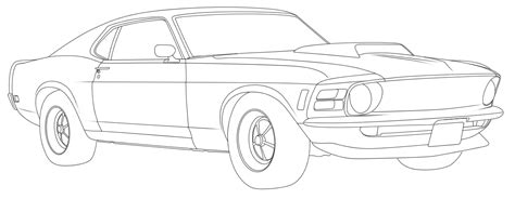 Auto Kleurplaat Getund by 1970 Mustang Coloring Pages Coloring Pages