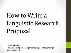 applied science research proposal example