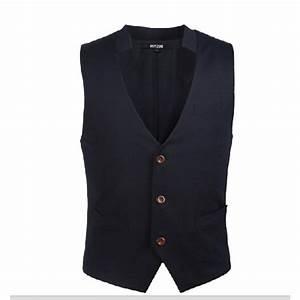Gilet Sans Manche Homme Costume : gilet de costume pour homme avec petit col relev bleu ~ Farleysfitness.com Idées de Décoration