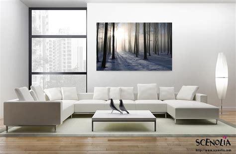 foret d 39 hiver décoration murale tableau nature en hiver