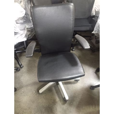 haworth x99 leather task chair