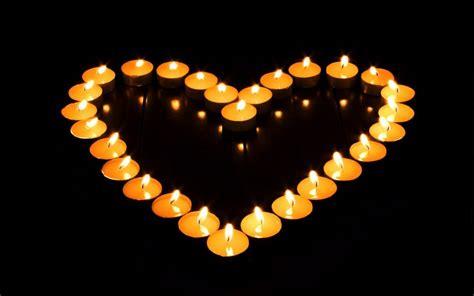 Romantic Candle Light Love Heart Wallpaper 1920x1200