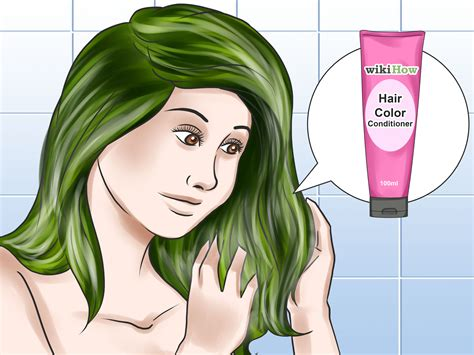 How To Get The Color by How To Dye Your Hair Green 13 Steps With Pictures Wikihow