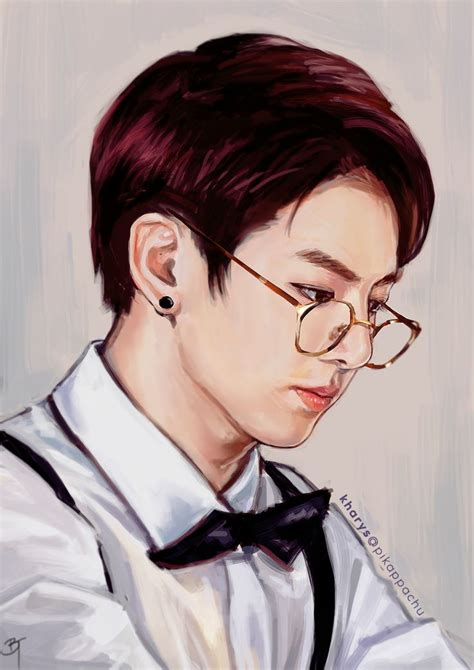 jungkook anime art 39 best bts jungkook fanart fan art images on pinterest