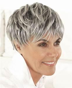 Coupe Cheveux Gris Femme 60 Ans : les 25 meilleures id es de la cat gorie coupe cheveux gris ~ Voncanada.com Idées de Décoration
