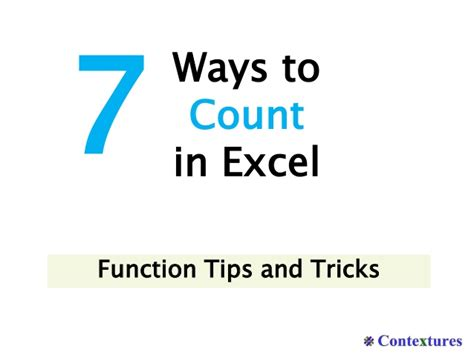 7 Ways To Count In Excel