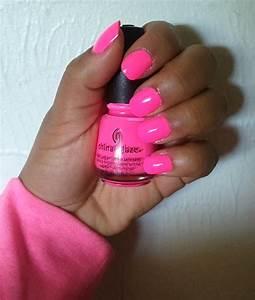 """*: Nail Polish: """"Shocking Pink (Neon)"""""""