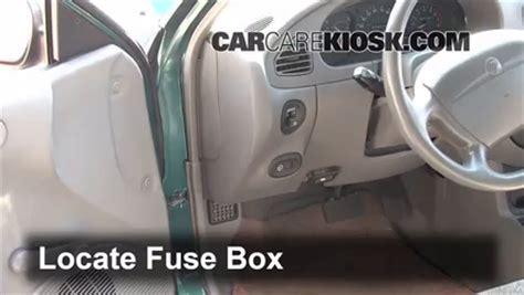 interior fuse box location   ford escort