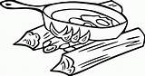 Coloring Campfire Cooking sketch template