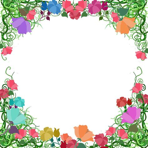 border designs with flowers free page border designs vine border by ozaidesigns on deviantart creative crochet and