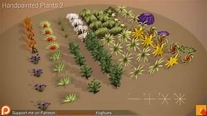 Free  Handpainted Plants 2
