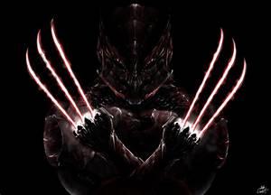 Fiction Art Armour Mask Wolverine Logan Claws Black