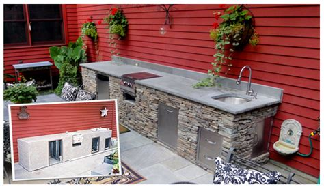 how to build a outdoor kitchen island build your outdoor kitchen or bbq island oxbox 9298