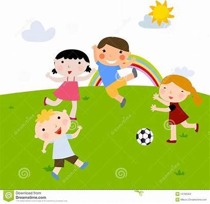 Playing Football Bambini Calcio Estate Giocano Che