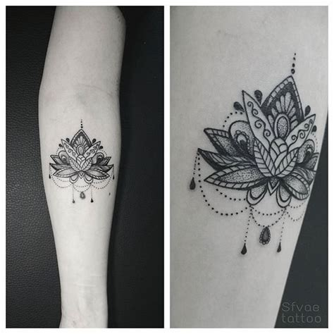 tattoo lotus lotustattoo dotwork  instagram tattoo