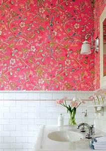 Papier Peint Pour Salle De Bain : le papier peint en 52 photos pleines d 39 id es ~ Dailycaller-alerts.com Idées de Décoration