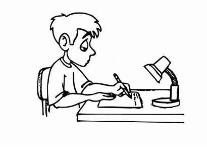 Homework Writing Coloring Pages Write Say Printable