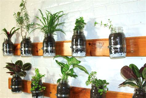 Jar Vertical Garden by 8 Living Walls And Vertical Gardens To Bring A Touch Of
