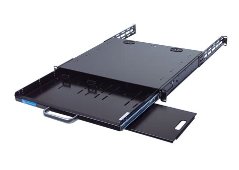 under desk rack mount rackmount keyboard drawer or tray with mouse pad