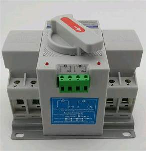 Interruptor De Transferencia Automatica Y Manual 220v