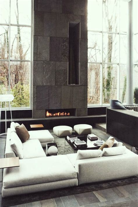 Contemporary Fireplaces For Luxury Living Rooms