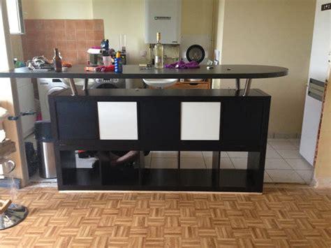bar pour cuisine ikea table de bar avec kallax bidouilles ikea