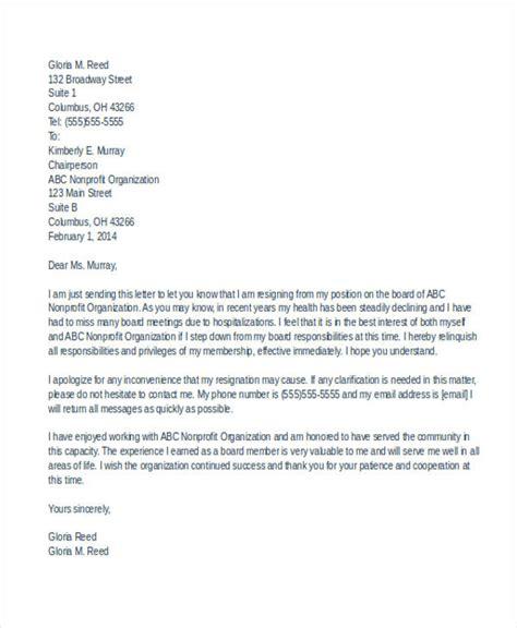 board member resignation letter template  business flyer