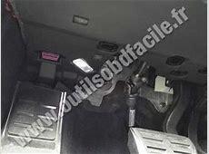 OBD2 connector location in Audi A5 8T 2007
