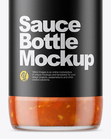 These mockups were created by experienced designers and will definitely make your sauce jar design project look professional. Clear Glass Bottle with Sweet and Sour Sauce Mockup in ...