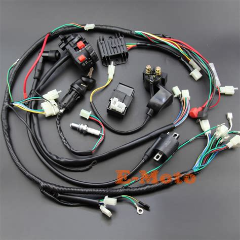 Honda 110 Atv Wiring Harnes For by Wiring Harness Loom Ignition Coil Cdi D8ea For 150cc