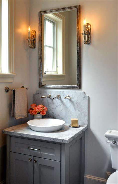 Gray Bathroom Vanity  Transitional  Bathroom Luxe