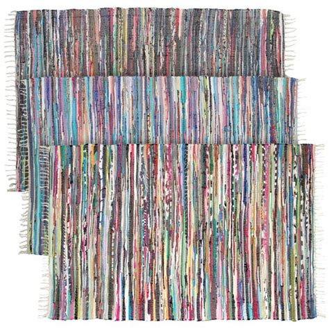Rag Rugs Walmart by Large Rainbow Chindi Area Rag Rug Recycled Cotton Multi