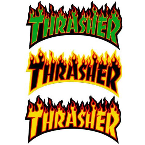 "Thrasher Magazine  Thrasher Flame Logo 6"" Sticker. Blank Wall Banners. Deviantart Stickers. Emotions Signs. Soldier Logo. Jungle Tree Murals. Nostalgia Murals. Kim Stickers. Sad Stickers"