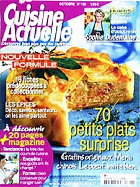 abonnement magazine cuisine cuisine actuelle