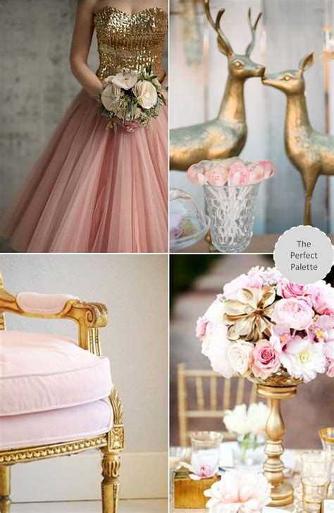Now Trending: Shades of Pink + Gold Wedding colors Pink