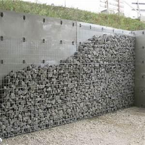 Mur En Gabion : mur b ton parement gabion mur parement gabion chapsol ~ Premium-room.com Idées de Décoration