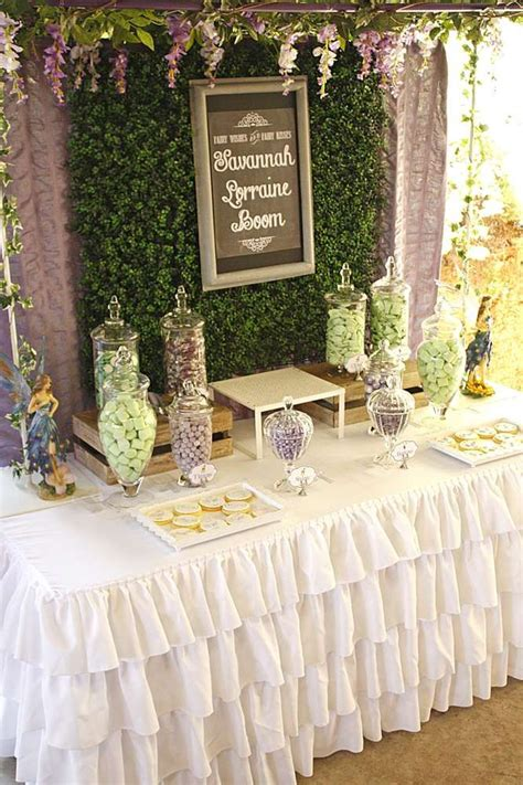bushland fairy baby naming party ideas woodland party