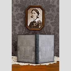 New Embellished Manuscript Florence Nightingale, Letter Of Inspiration  Endpaper The