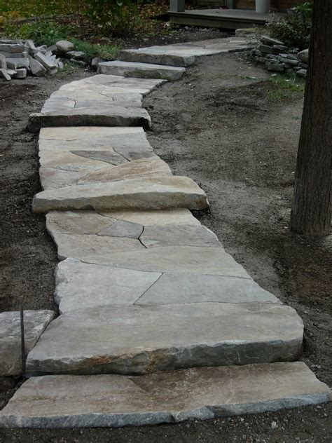 large flagstone maine stonework masonry hardscaping perennial stone granite flagstone walkway north
