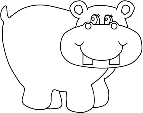 107 dibujos de Hipopótamos para colorear Oh Kids Page 9
