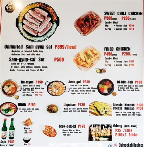 The Food Barn Menu by Food Barn A Guide Happy And Busy Travels